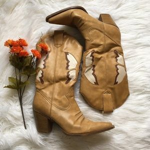 Shoes - Butterfly cowgirl boots